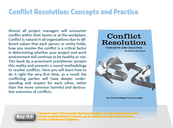 8. Conflict resolution: concepts and practice