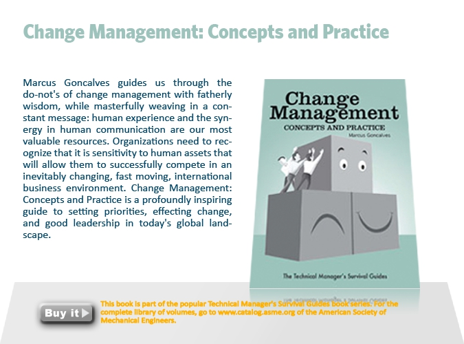 9. Change Management: Concepts and Practice